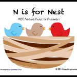 N is for Nest — Letter N Printables