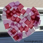 Heart Tissue Paper Suncatchers
