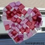 Heart Tissue Paper Suncatchers