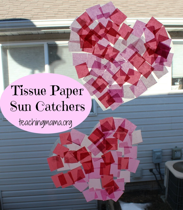 Heart Tissue Paper Sun Catchers