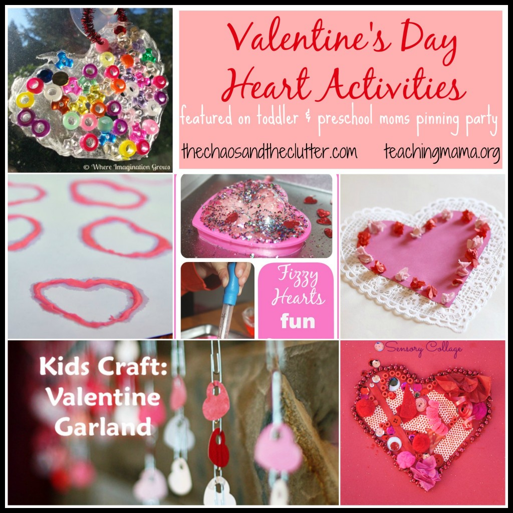 Valentine's Day Heart Activities featured on the pinning party