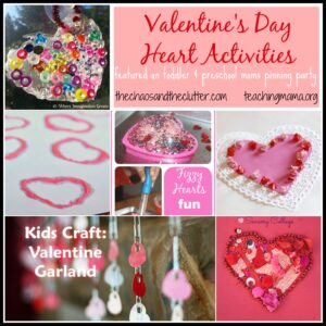 Valentine's Day Heart Activities & Pinning Party #20