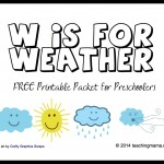 W is for Weather — Letter W Printables