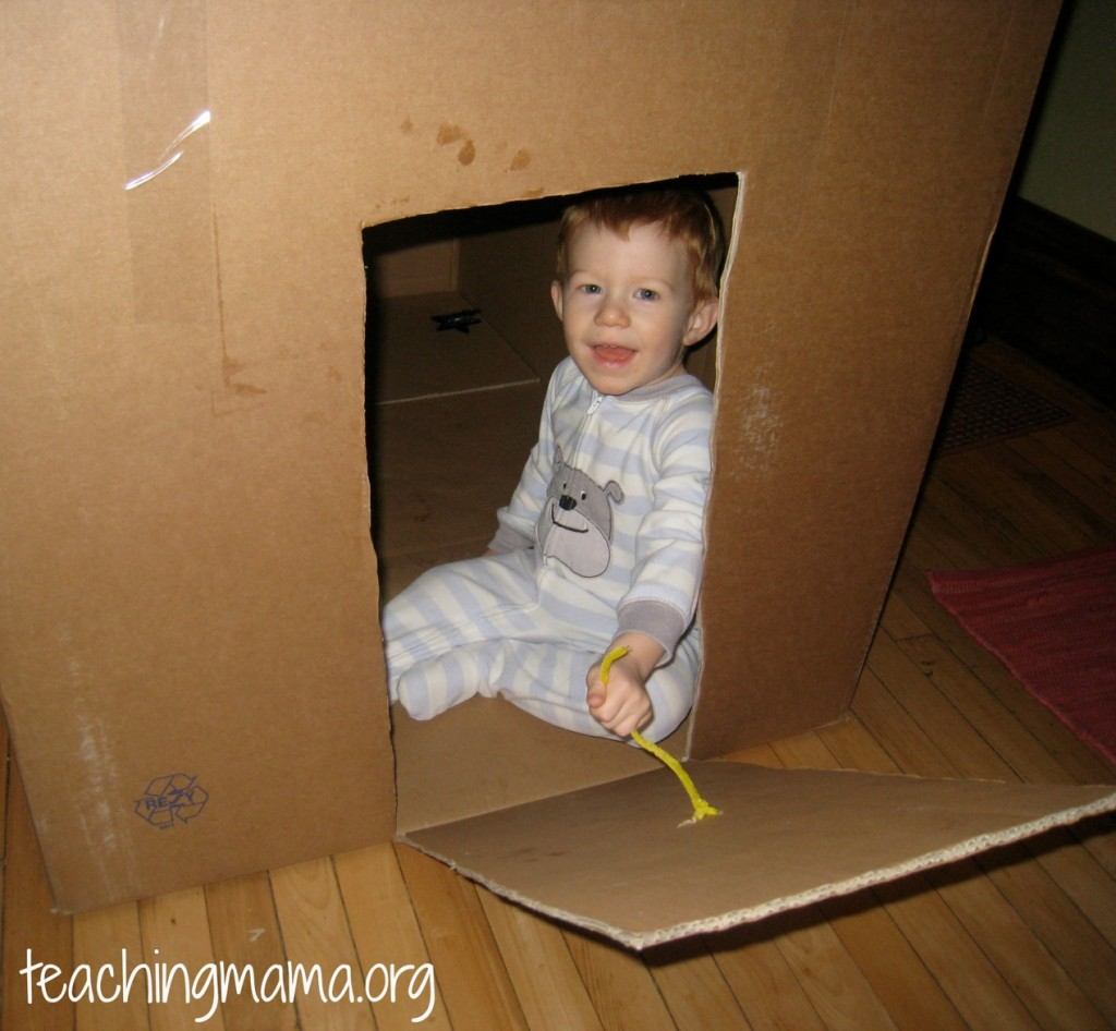 Cardboard Box Fort for Toddlers
