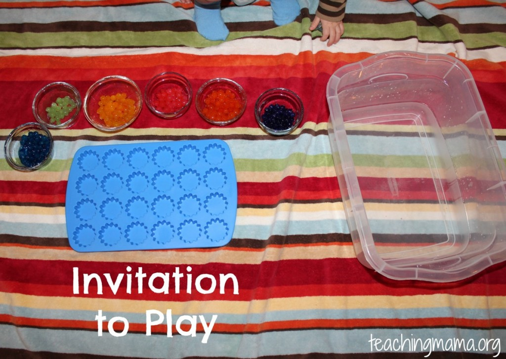 Invitation to Play with Water Beads