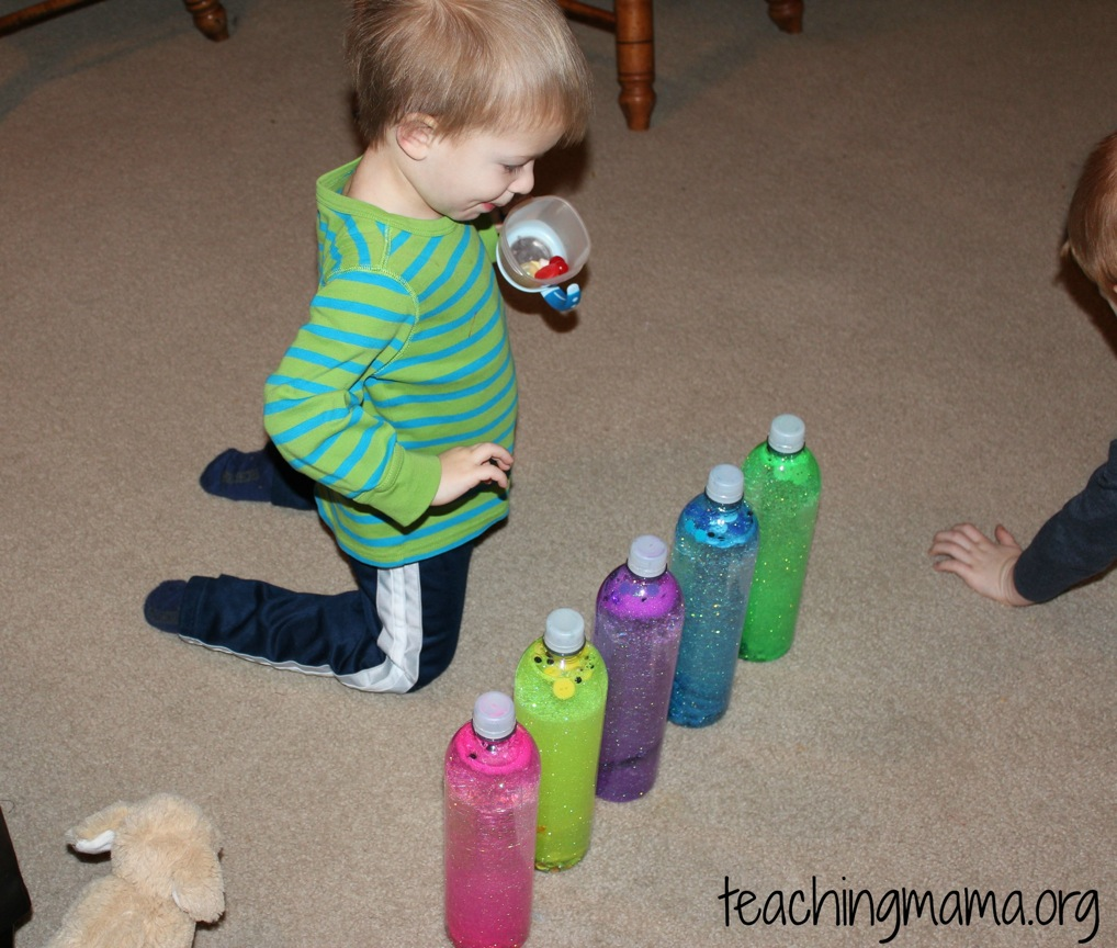 Colored Sensory Bottles