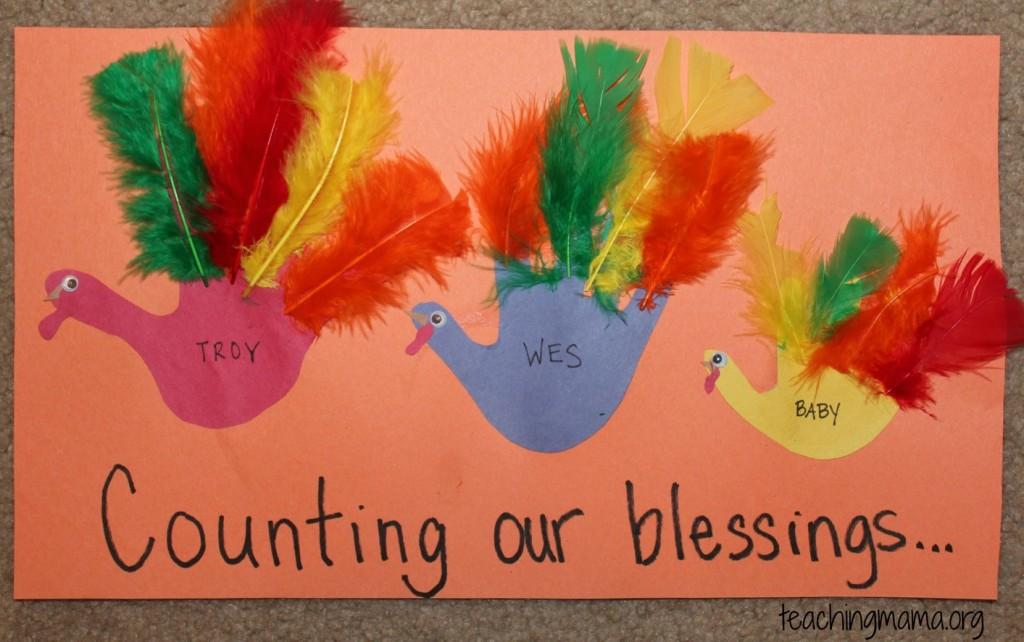 Baby Announcement using Hand-Turkeys