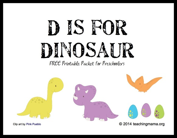 picture relating to Letter D Printable named D is for Dinosaur -- Letter D Printables