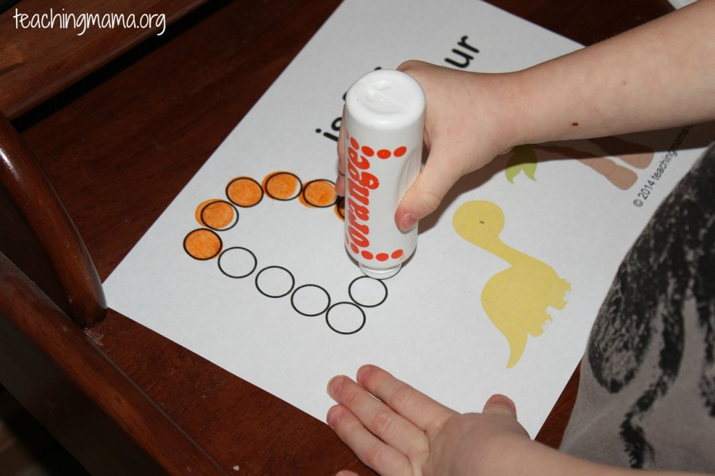Do A Dot Dinosaurs Printable