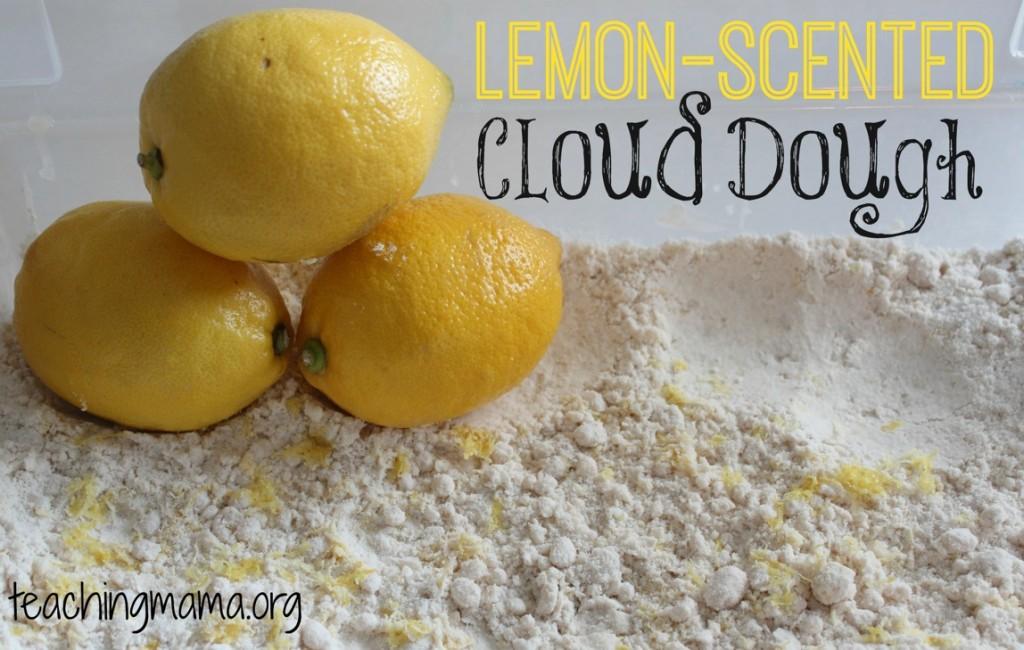 Lemon-Scented Cloud Dough