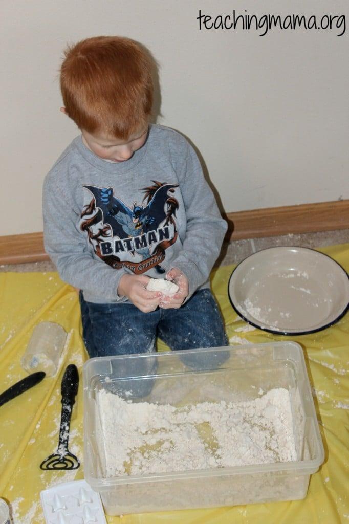 Molding Cloud Dough
