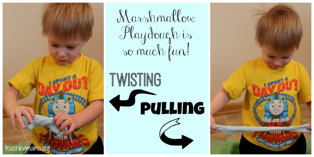 Playing with Marshmallow PlayDough