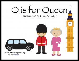 Q is for Queen — Letter Q Printables