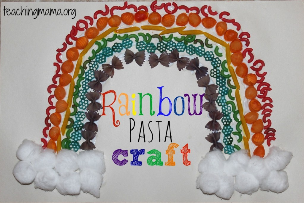 Rainbow Pasta Craft