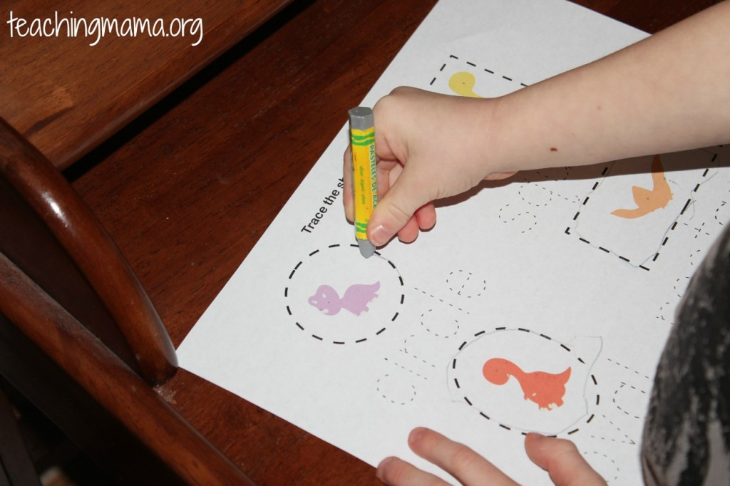Shapes Printable for Dinosaurs