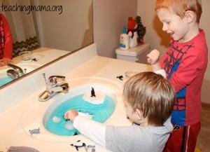 Penguin Sensory Sink