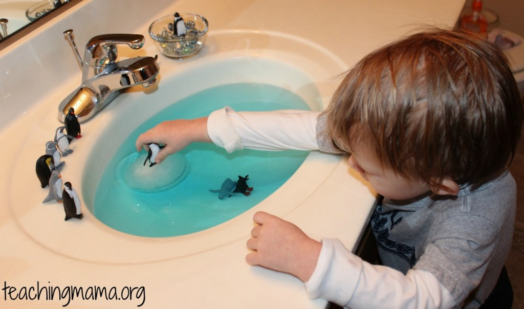 sensory sink with penguins