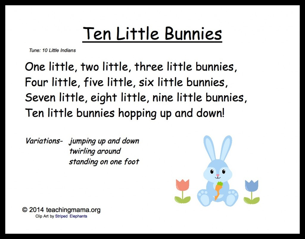 10 Little Bunnies Song