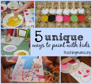 5 Unique Ways to Paint with Kids
