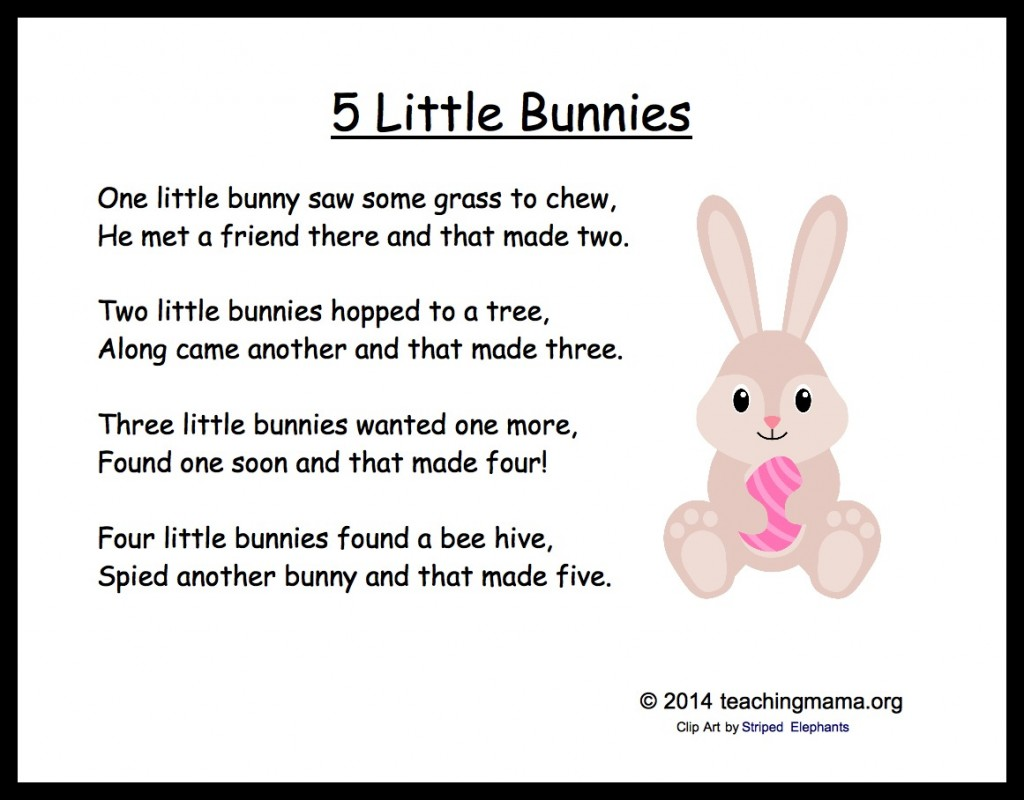 5 Little Bunnies Chant