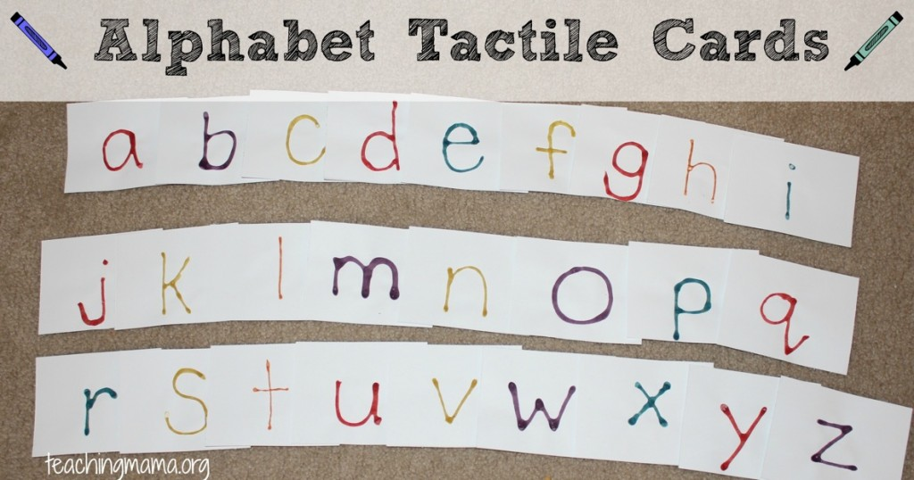 abc tactile cards