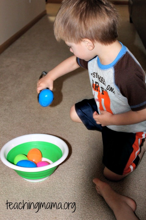 Egg Race with Tongs