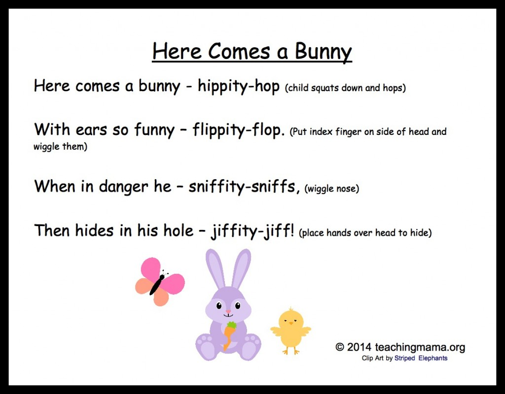 Here Comes a Bunny Chant