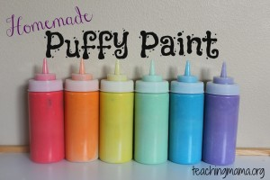 Homenmade Puffy Paint