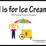 I is for Ice Cream — Letter I Printables