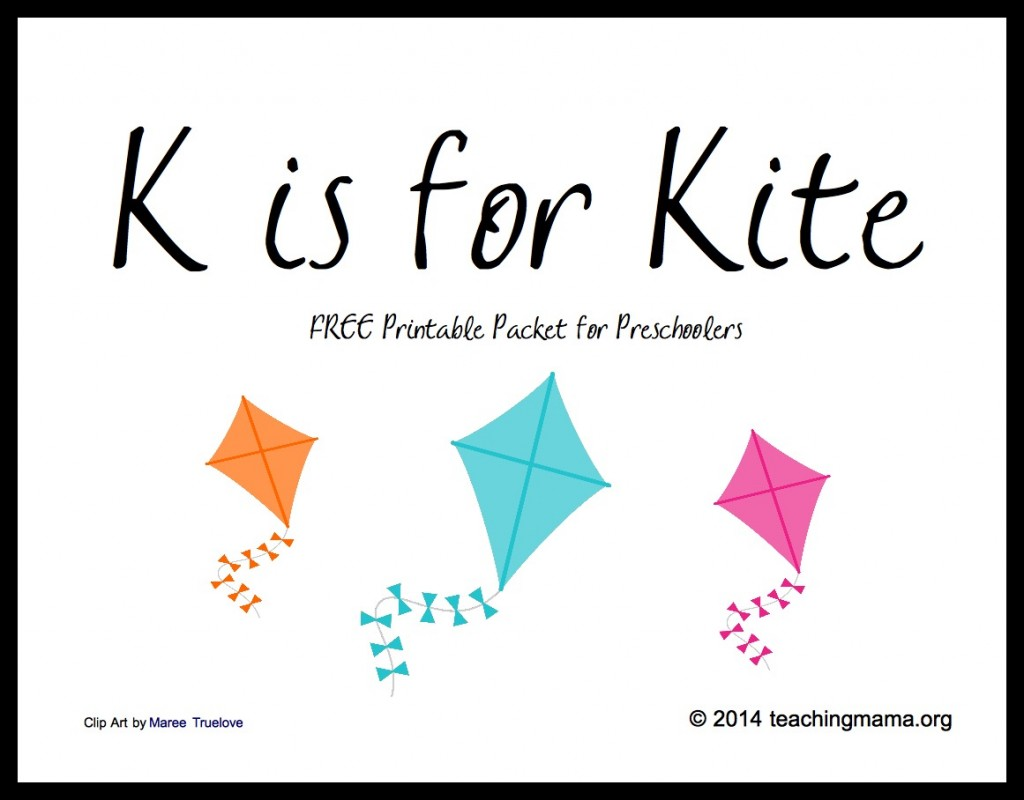K is for Kite -- Free Printable Packet
