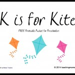 K is for Kite — Letter K Printables