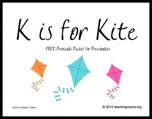K is for Kite — Letter K Printables