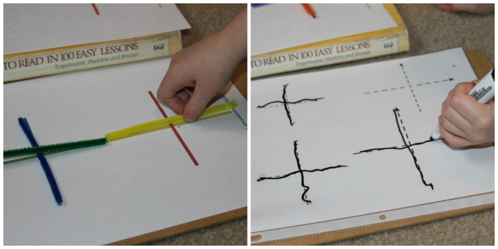Cross Lines with Pipe Cleaners