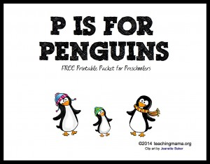 P is for Penguins — Letter P Printables