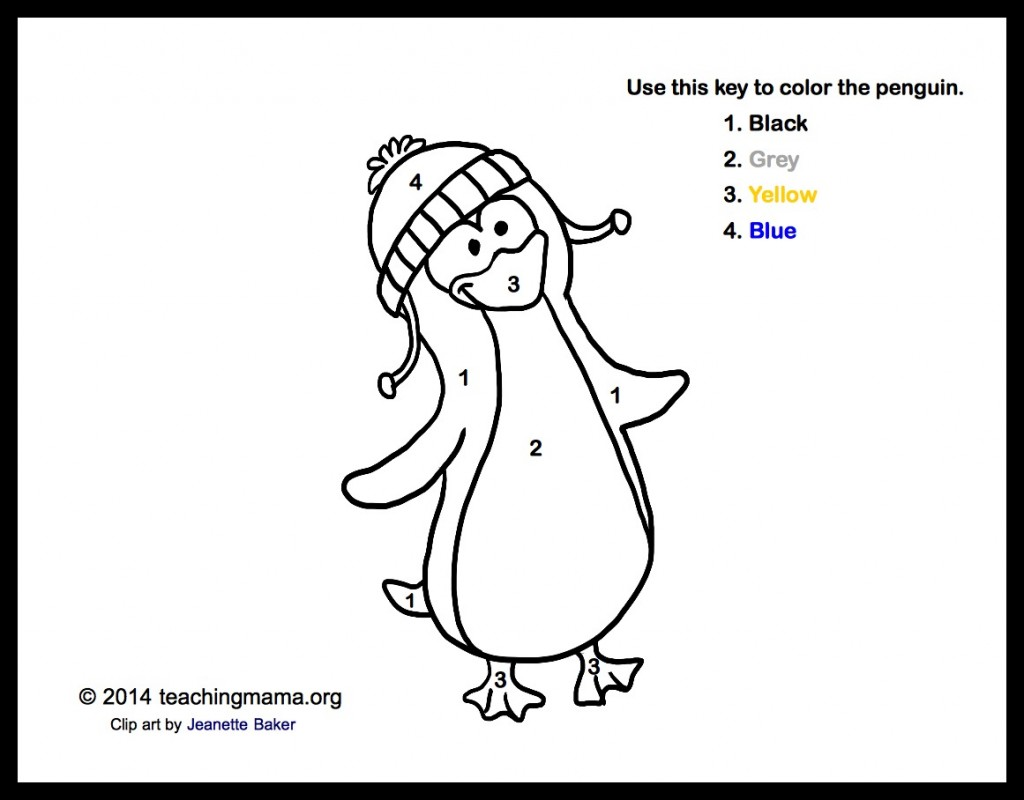 P is for Penguins Coloring Sheet
