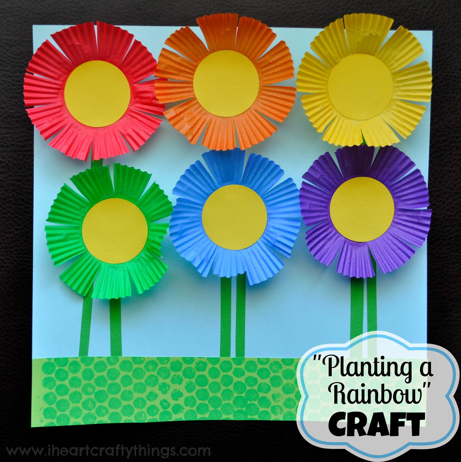 30 flower crafts for kids planting a rainbow flower craft by i heart crafty things mightylinksfo Choice Image