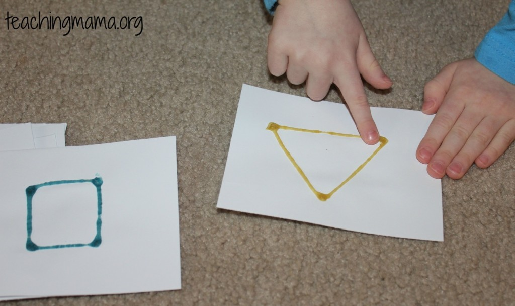 Homemade Tactile Shape Cards