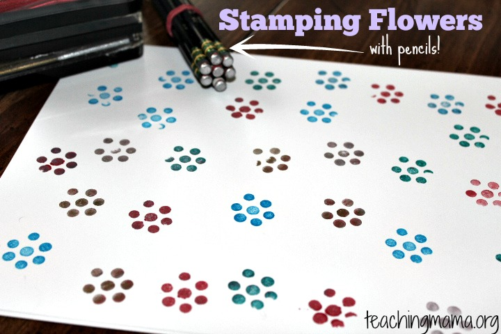 Stamping Flowers with Pencils!