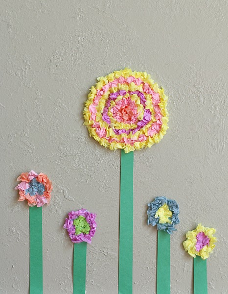 Textured Tissue Paper Flowers