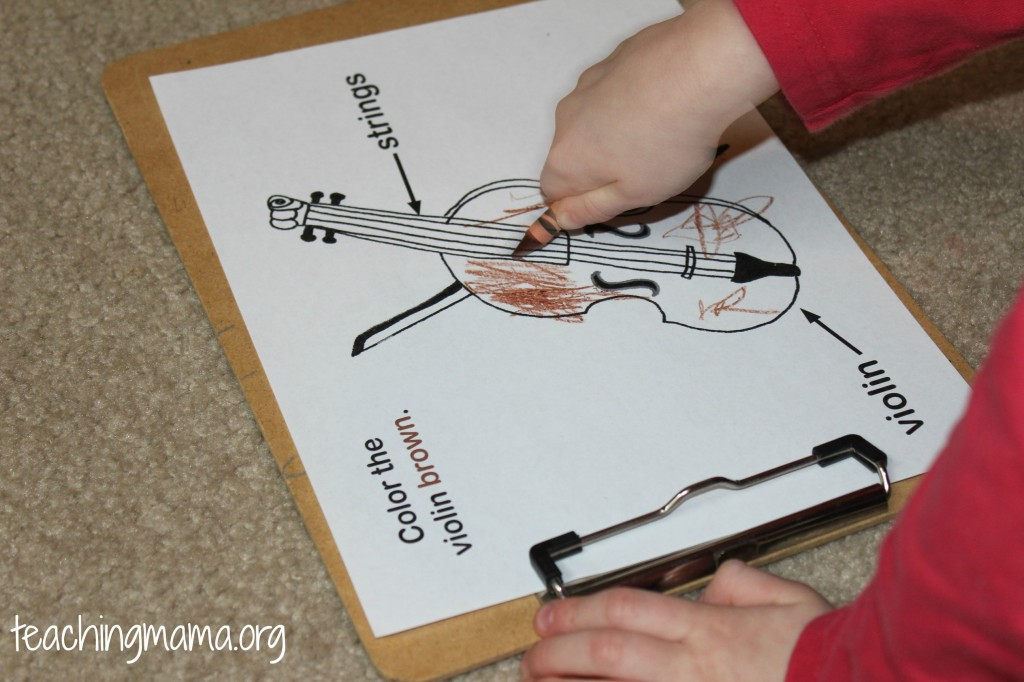 Coloring the Violin