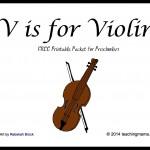 V is for Violin — Letter V Printables