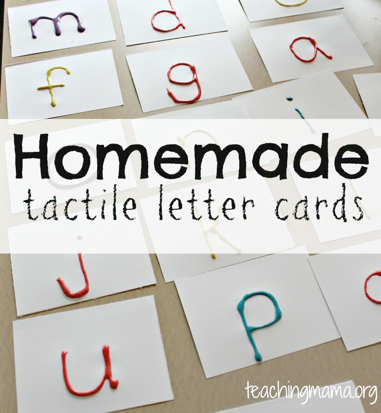 homemade tactile letters