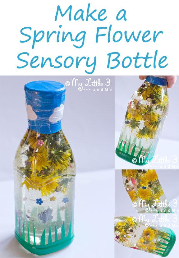 Flower crafts for kids spring flower sensory bottle from my little 3 and me mightylinksfo Choice Image