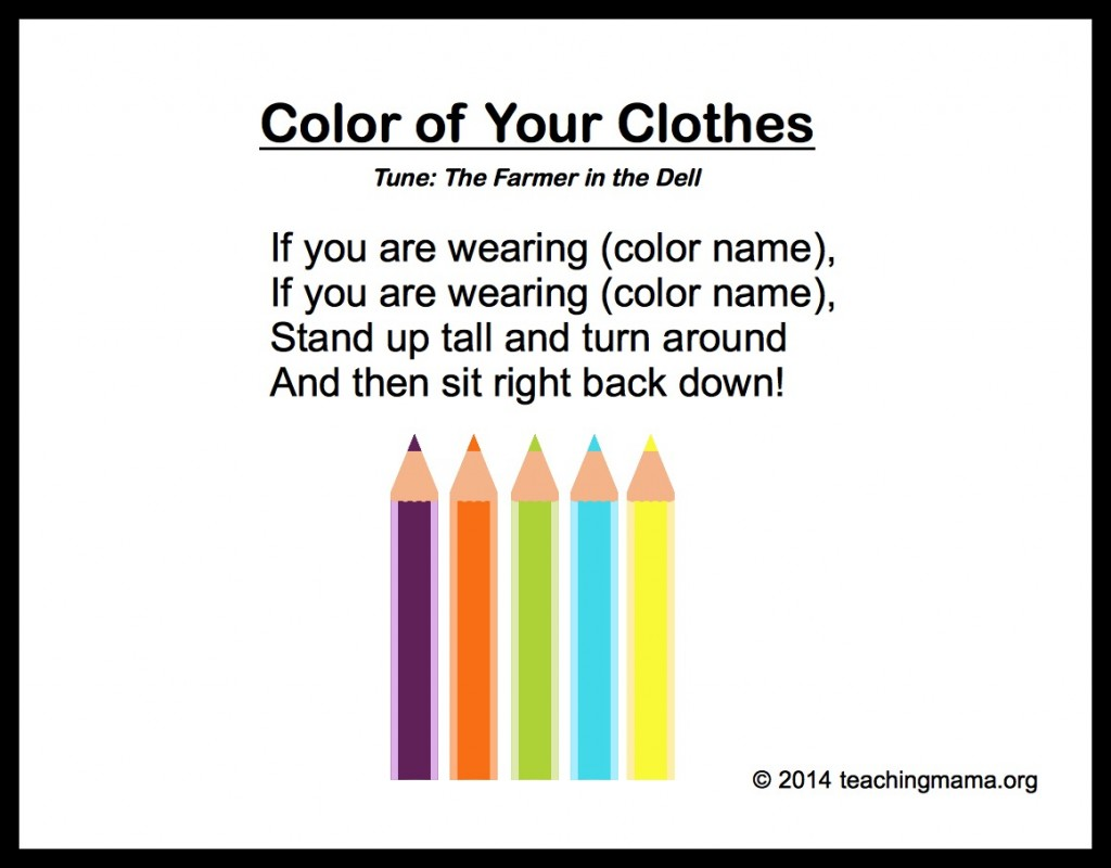 Color of Your Clothes Song