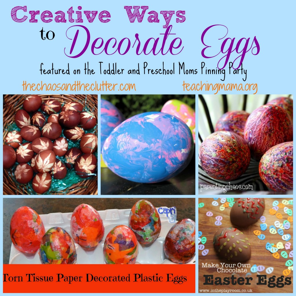 Creative Ways to Decorate Eggs -- Featured on the Pinning Party