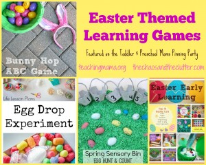 Easter Themed Learning Games--Featured on the Toddler & Preschool Moms Pinning Party