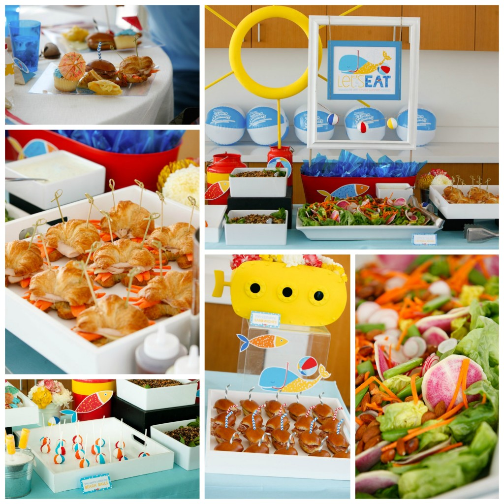 Lunch at Huggies Pool Party