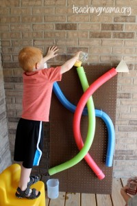 Pool Noodles with Water