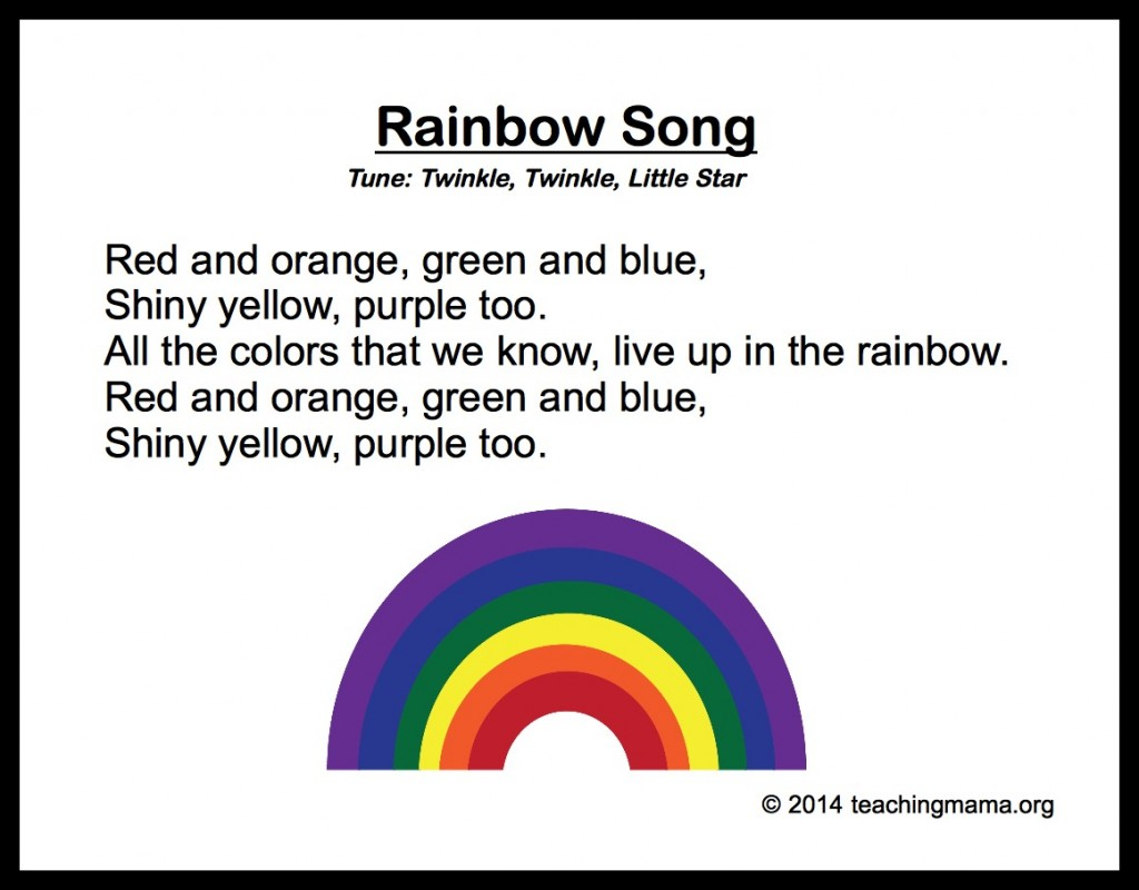rainbow song - All The Colors Of The Rainbow Song
