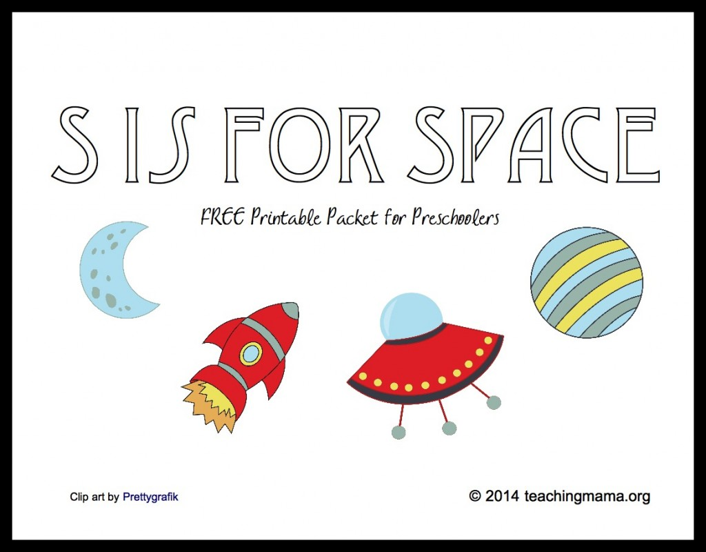 S is for Space -- Letter S Printables